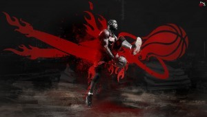 Red and black Dwyane Wade wallpaper