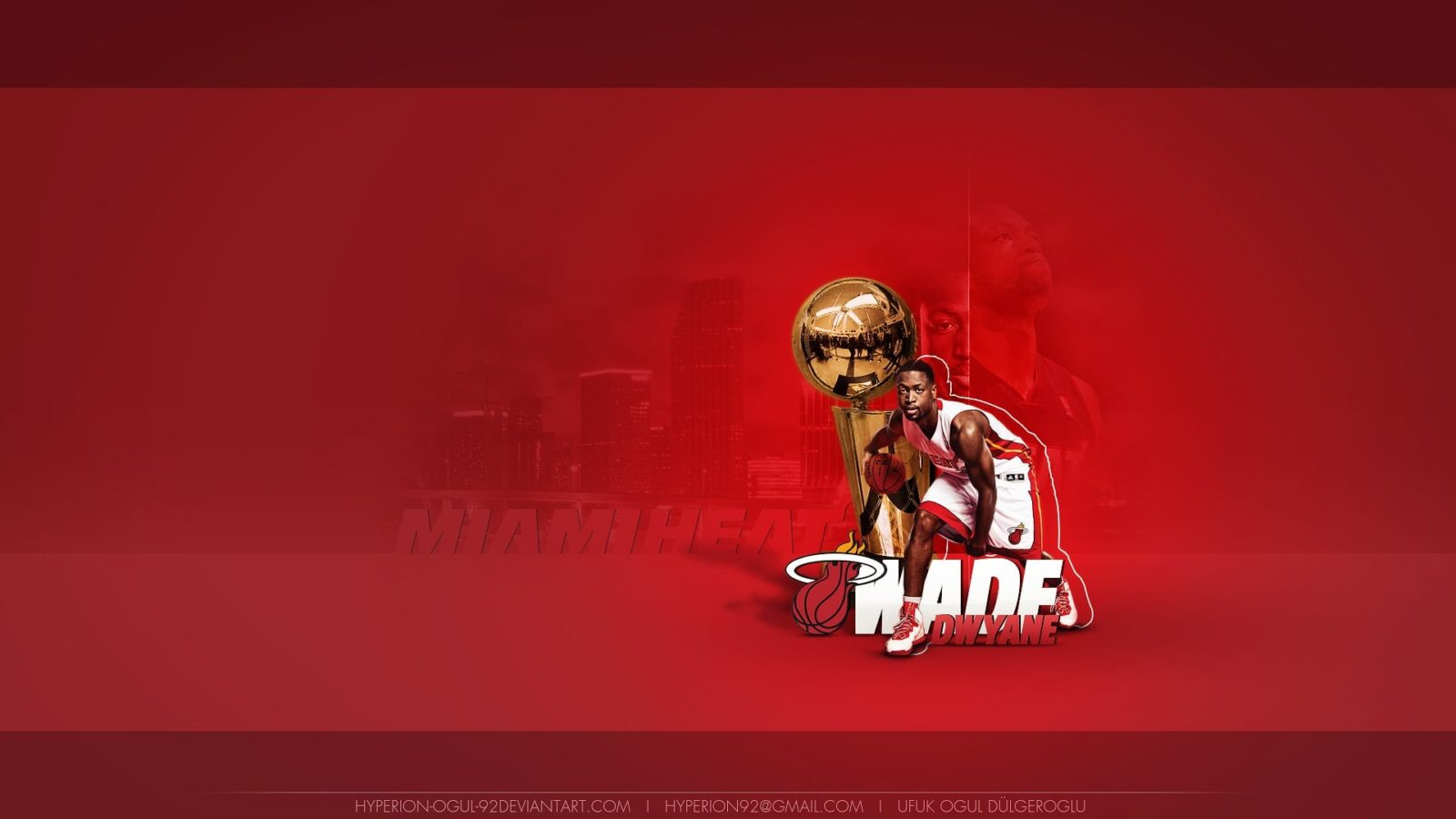 Dwyane Wade red background