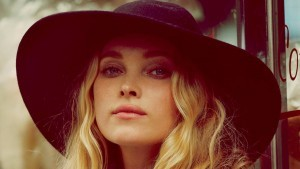 Elsa Hosk in black hat full HD image