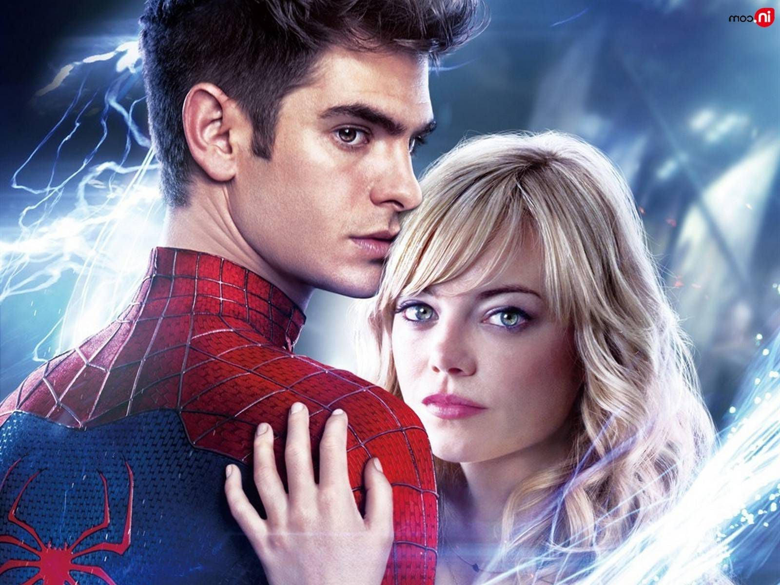 Emma Stone and Andrew Garfield background