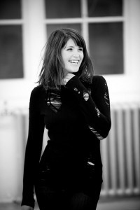 Gemma Arterton bw for iPhone