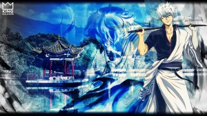 Gintoki Sakata abstract High Resolution wallpaper