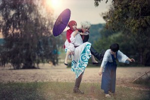 Gintoki Sakata cosplay widescreen