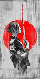 Girl Samurai for iPhone full HD image