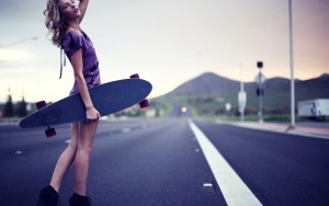 Girl Skateboarding free download
