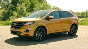 Green Ford Edge 2015 background