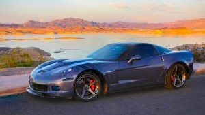 Grey Chevrolet Corvette C6 Z06 full HD image