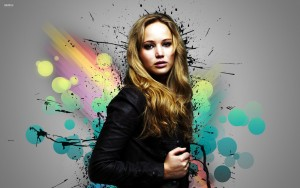 Jennifer Lawrence abstract High Quality