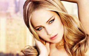 Jennifer Lawrence eyes makeup full HD image