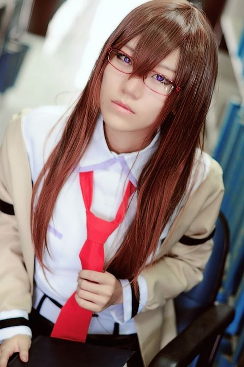 Kurisu Makise Steins Gate cosplay background