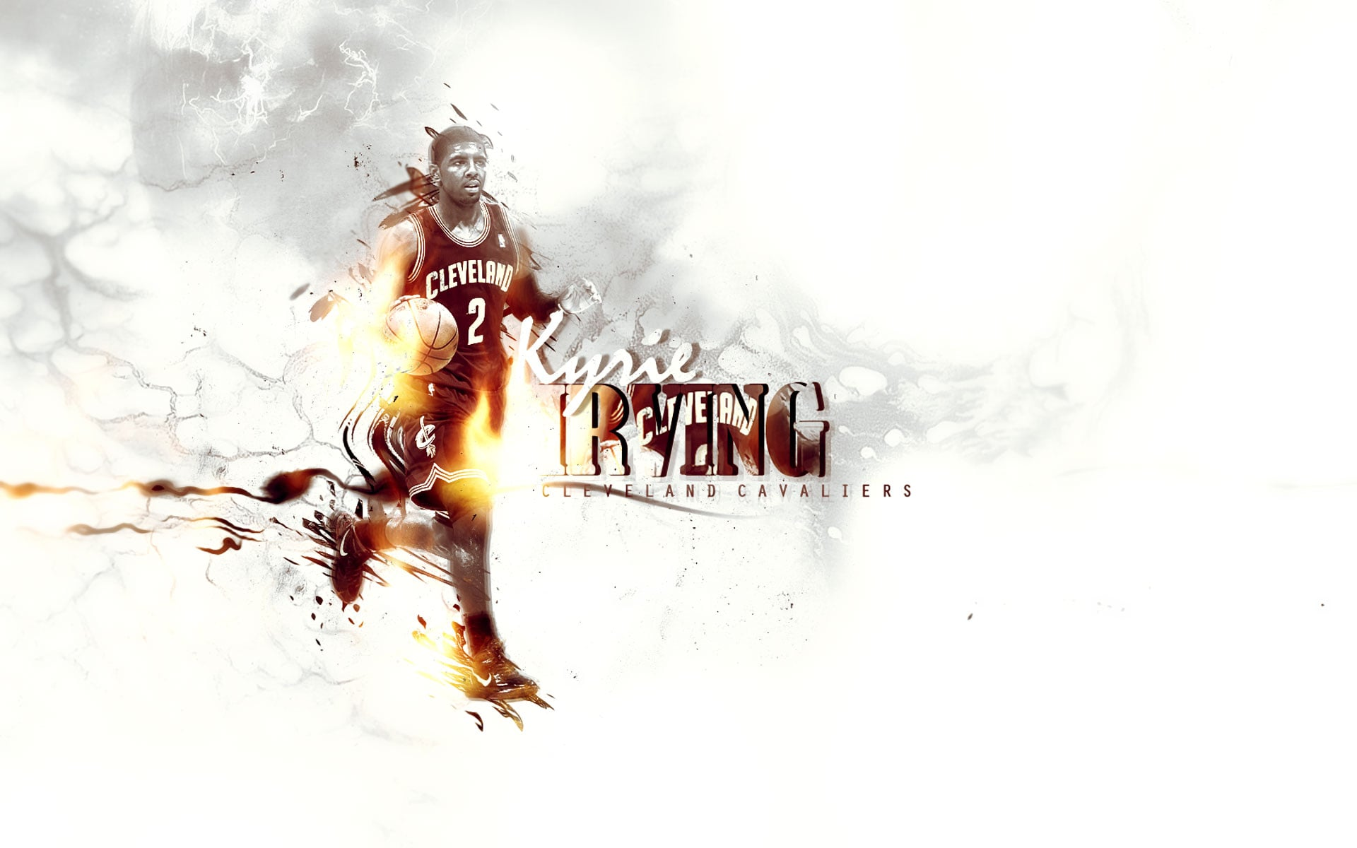 Kyrie Irving abstract background