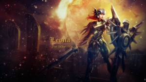 wallpaper of Leona League of Legends