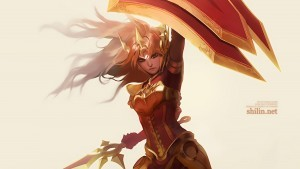 League of Legends Leona background