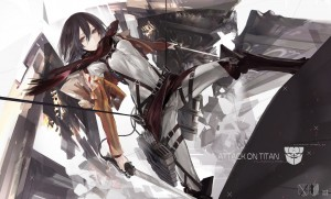 Mikasa Ackerman Attack On Titan abstract