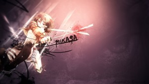 Mikasa Ackerman Attack On Titan logo backgrounds