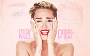 photo of Miley Cyrus is crying