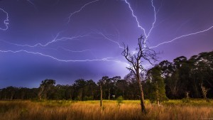 wallpaper of Nature lightnings