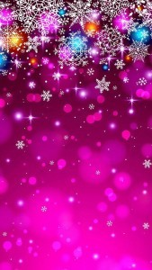 Pink Christmas iPhone High Definition wallpaper for mobile phones