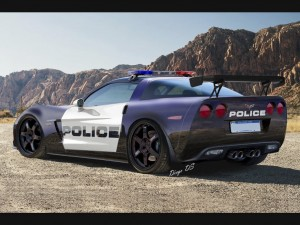 Police Chevrolet Corvette C6 Z06 widescreen
