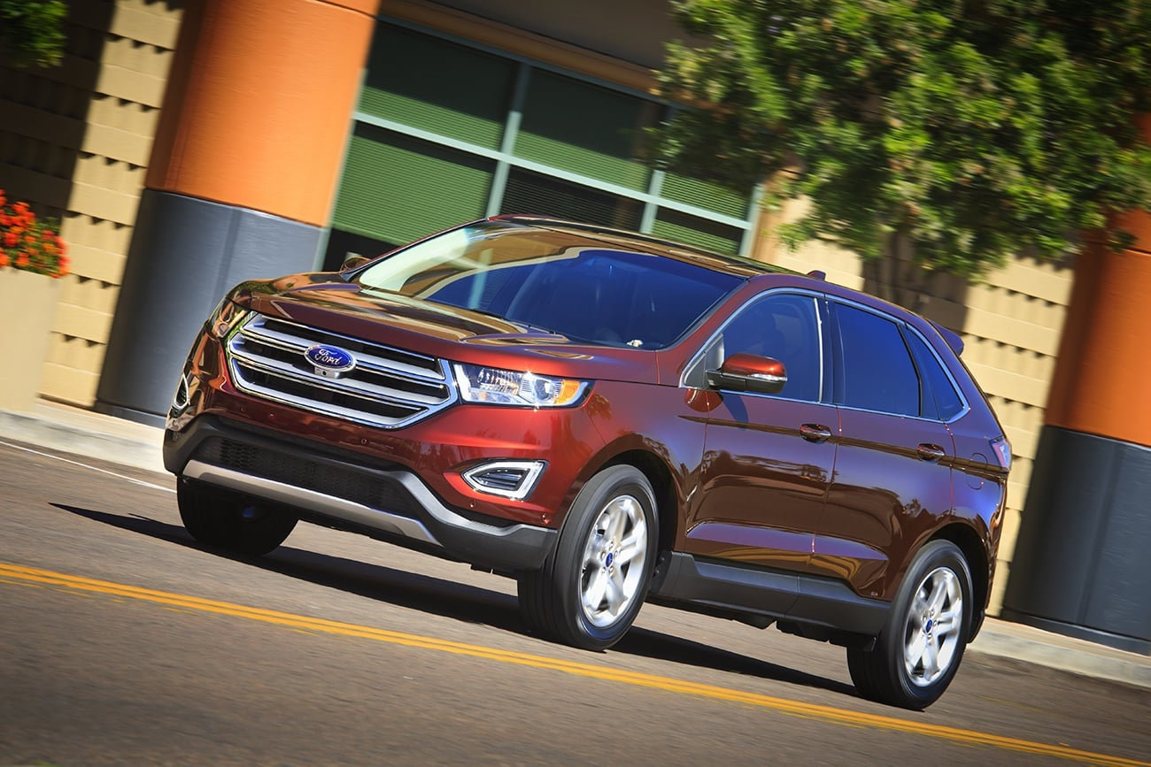 Red Ford Edge 2015 High Resolution wallpaper