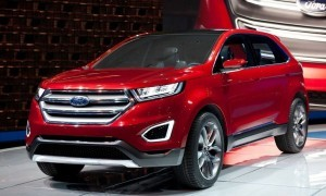Red Ford Edge 2016 HD 1080p wallpaper