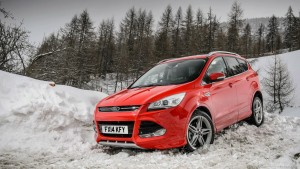 Cool Red Ford Escape at winter HD pic for PC