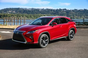 Red Lexus RX 350 2016 background