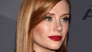 Red lips of Bryce Dallas Howard
