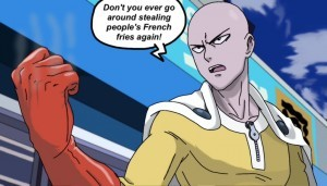 One Punch Man Saitama full HD image