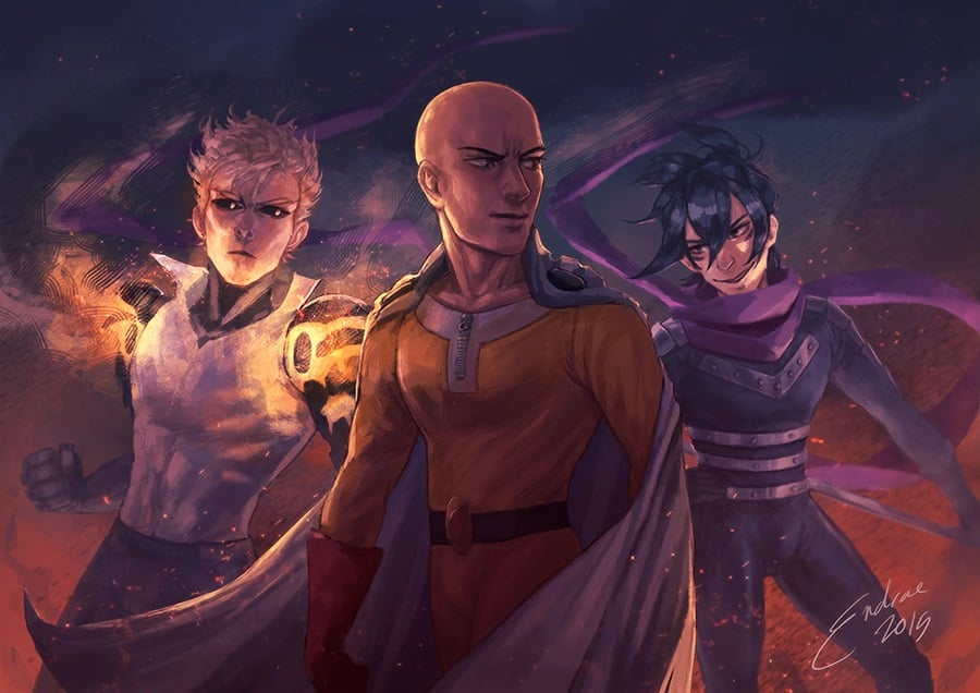 Best image of Saitama Genos and Sonic One Punch Man