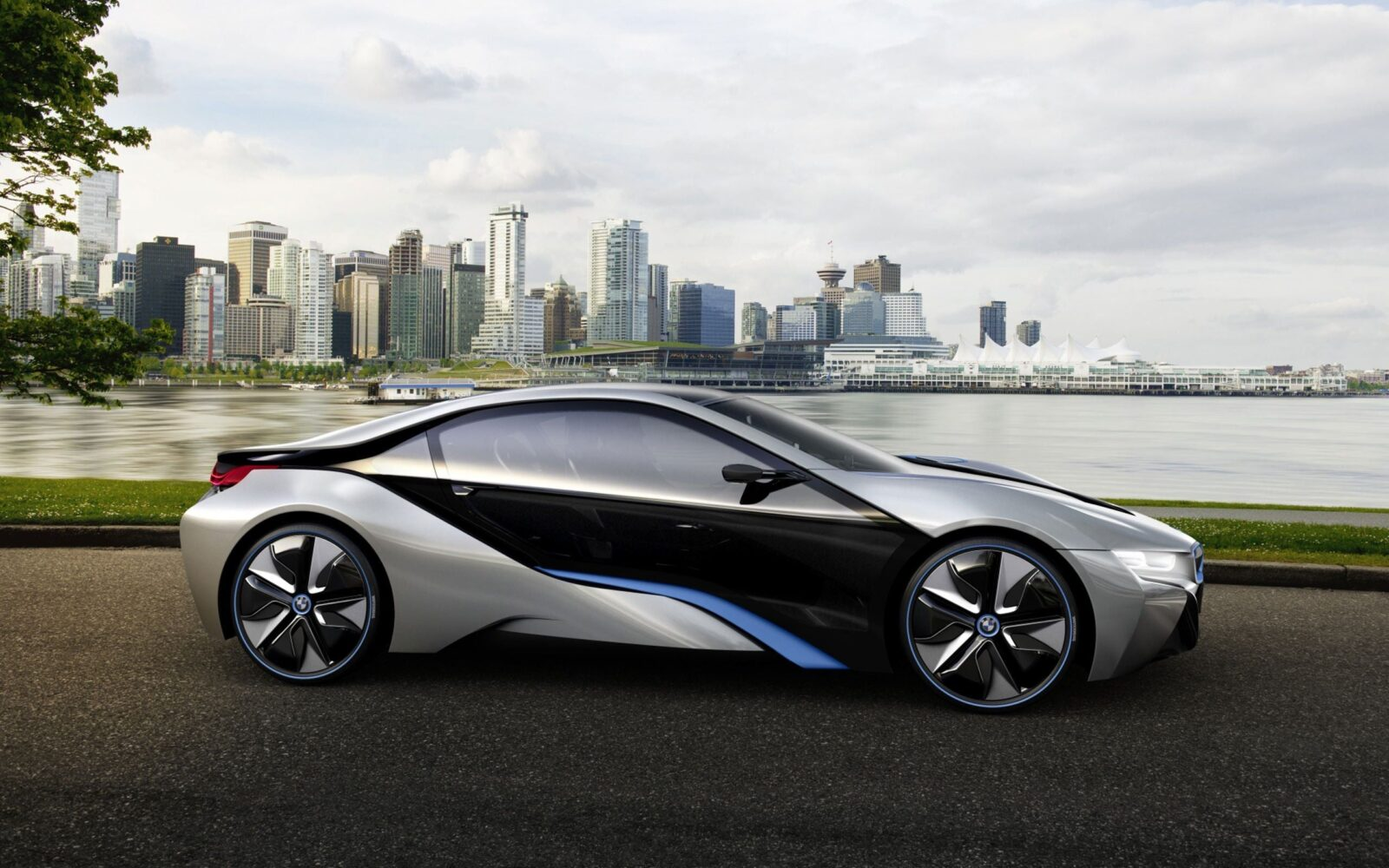 Silver Black Bmw I8 High Quality Wallpapers