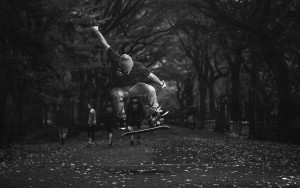 Free pic of Skateboarding bw