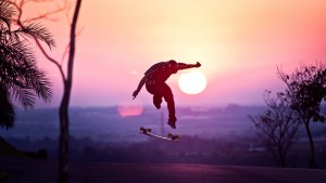 Skateboarding jump wallpapers