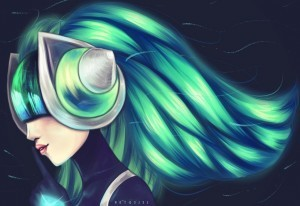 League of Legends Sona widescreen