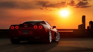 Sunset Chevrolet Corvette C6 Z06 High Resolution wallpaper