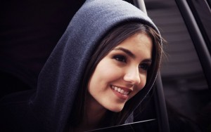 Victoria Justice in a hood backgrounds