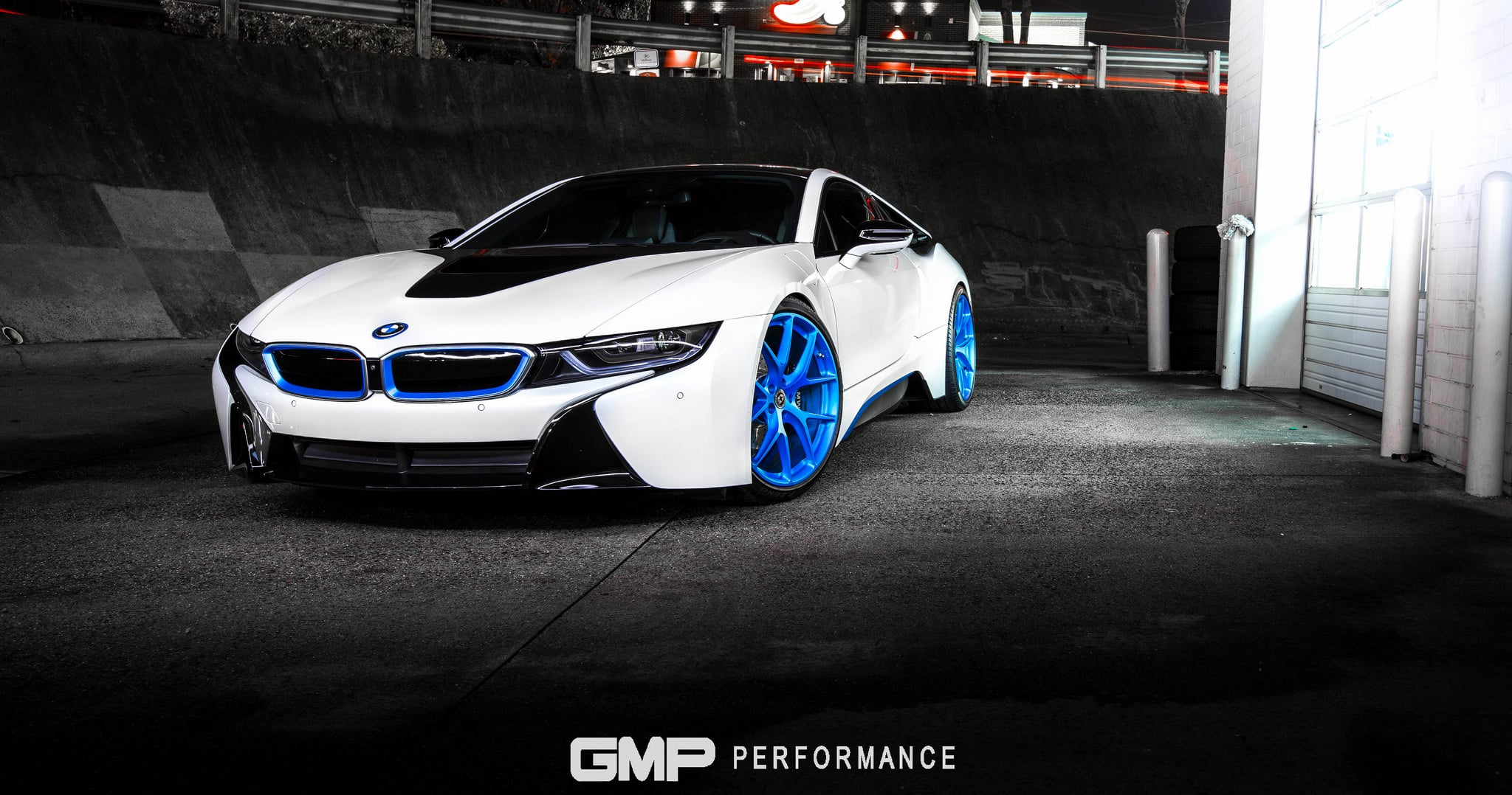 White BMW i8 HD 1080p wallpaper