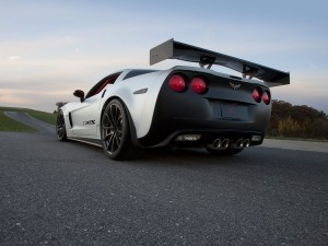 White Chevrolet Corvette C6 Z06 HD wallpapers