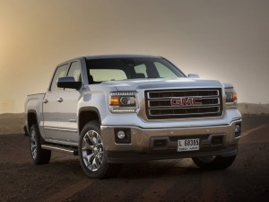 White GMC Sierra