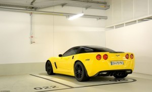 Yellow Chevrolet Corvette C6 Z06 wallpaper