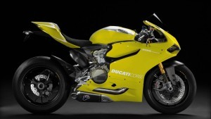 Ducati 1199 Panigale yellow