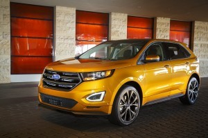 Yellow Ford Edge 2015 High Definition wallpaper