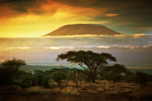 amazing sunset mount Kilimanjaro travel HD 1080p wallpaper