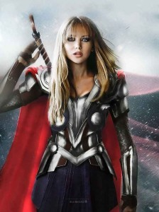 art Jennifer Lawrence in armor