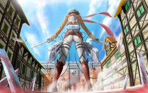 back Attack On Titan Mikasa Ackerman HD pic
