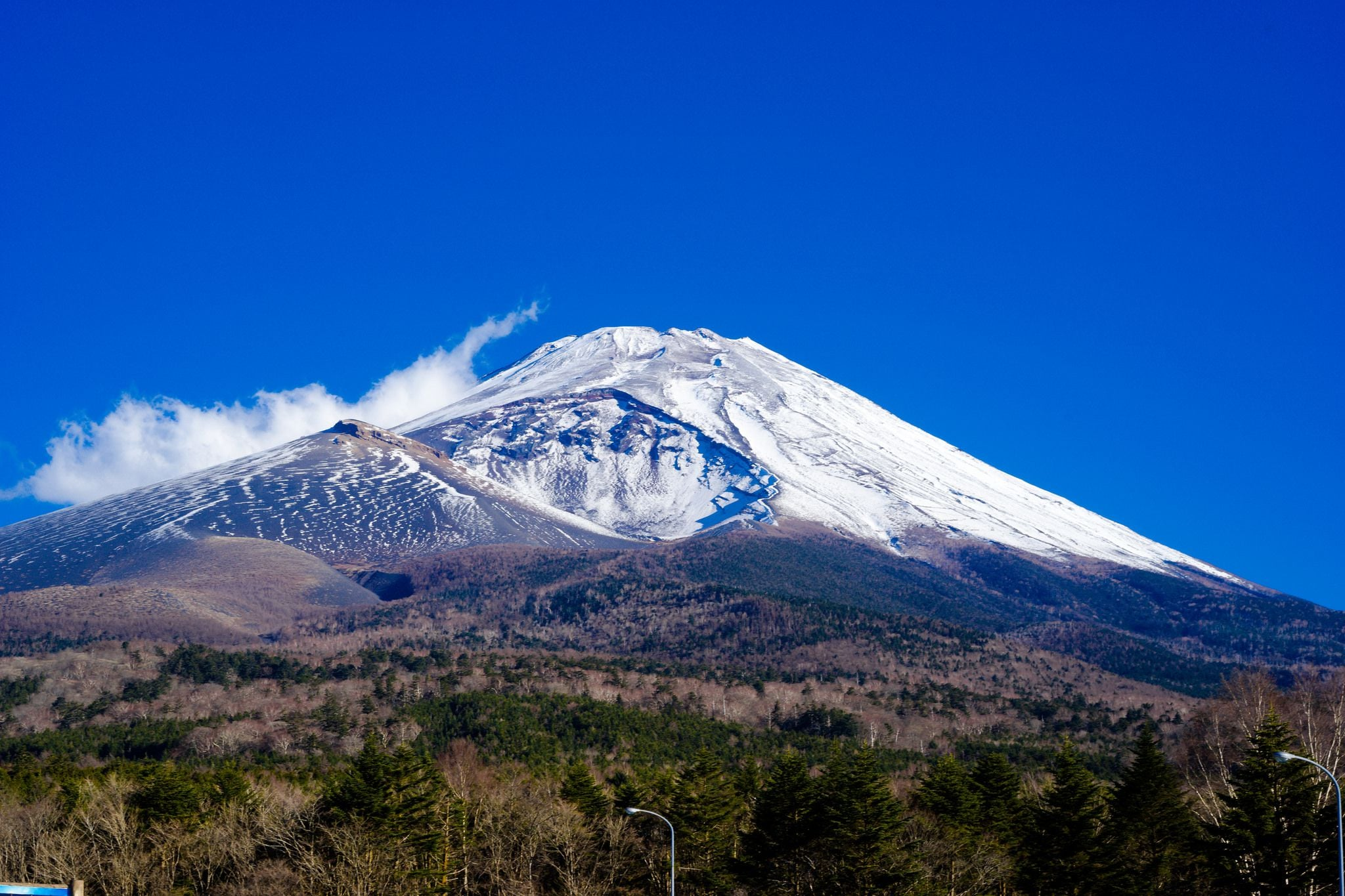 blue sky mount Fuji High Quality wallpapers