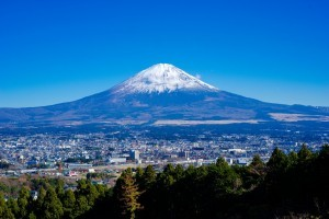 city mount Fuji HD for desktop
