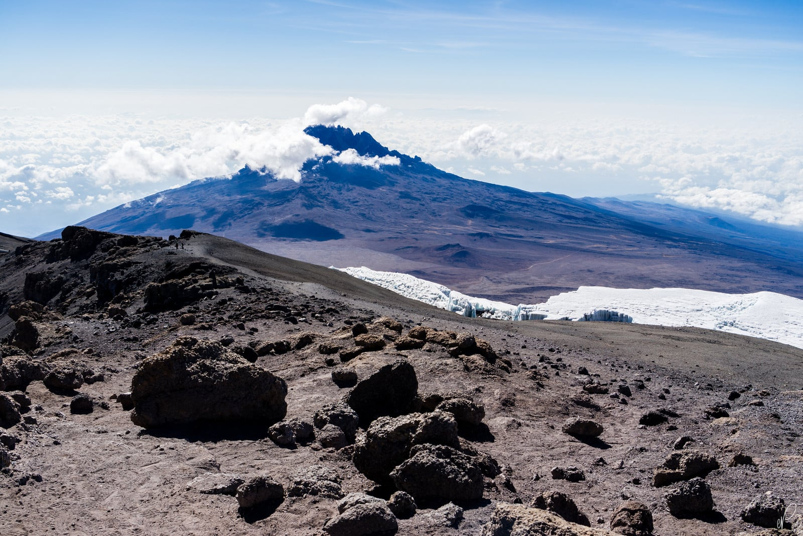 clouds mount Kilimanjaro pictures