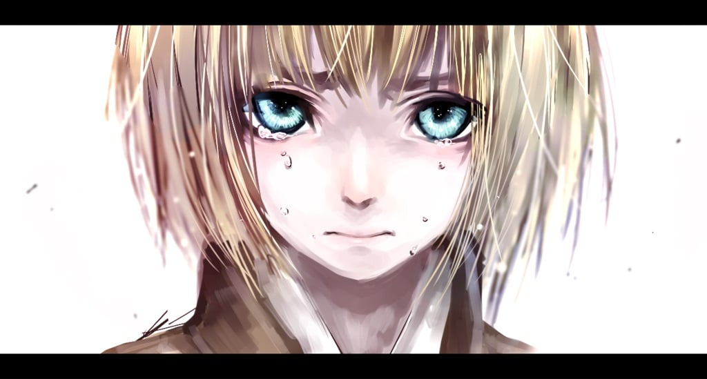 Best image of cry Armin Arlert Attack On Titan eyes