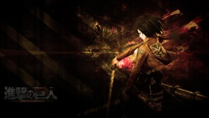 dark Attack On Titan Mikasa Ackerman themes for PC